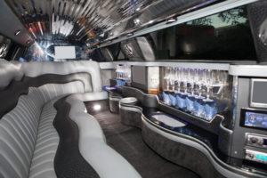 Luxurious limousine interior